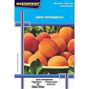 Papel Fotográfico Glossy A4 20 Folhas 180g - unitário - Masterprint