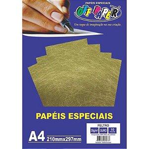 Papel Feltro A4 10 Folhas 30g Ouro - unitário - Off Paper