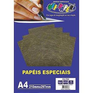 Papel Feltro A4 10 Folhas 30g Marrom - unitário - Off Paper