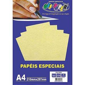 Papel Feltro A4 10 Folhas 30g Creme - unitário - Off Paper
