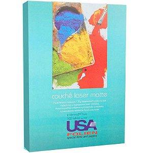 MOSTRUÁRIO - Papel Couchê Laser Glossy A4 c/ 50 Folhas 170g Dupla Face - unitário - USA Folien
