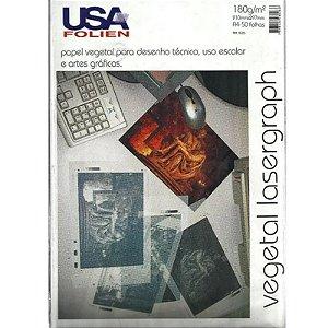 Papel Vegeta Lasergraph A4 c/ 50 Folhas 180g - unitário - USA Folien