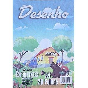 Bloco p/ Desenho A4 c/ 20 Folhas 150g - unitário - F.D. Gráfica e Editora
