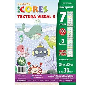 Coleção EcoCores Textura Visual 3 c/ 36 Folhas 180g - unitário - Novaprint