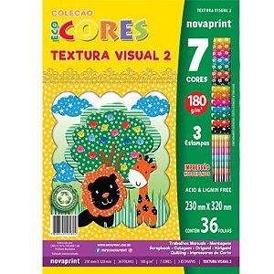 Coleção EcoCores Textura Visual 2 c/ 36 Folhas 180g - unitário - Novaprint