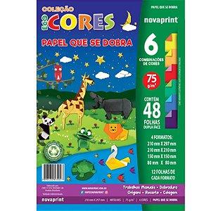 Coleção EcoCores Papel que se Dobra c/ 48 Folhas Dupla Face 75g - unitário - Novaprint