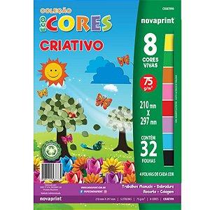 Coleção EcoCores Criativo c/ 32 Folhas 75g - unitário - Novaprint