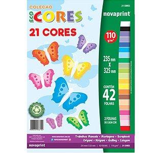 Coleção EcoCores 21 Cores c/ 42 Folhas 110g - unitário - Novaprint