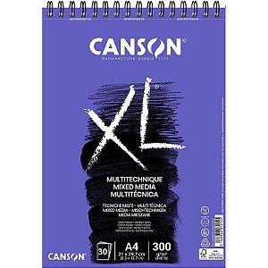 Papel XL Mixed Media A4 c/ 30 Folhas 300g - unitário - Canson