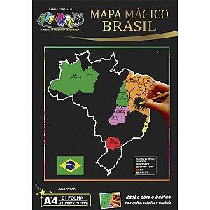 Mapa Mágico Brasil A4 - unitário - Off Paper
