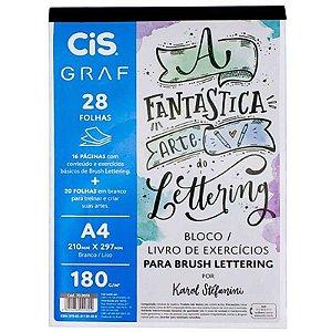 Livro de Exercícios p/ Brush Lettering A4 180g - unitário - CIS