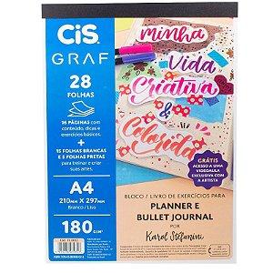 Livro de Exercícios p/ Planner e Bullet Journal A4 180g - unitário - CIS