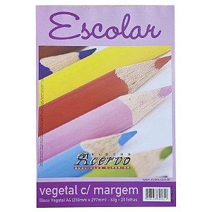 Papel Vegetal c/ Margem A4 c/ 20 Folhas 63g - unitário - Acervo