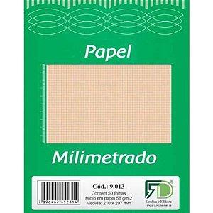 Papel Milimetrado A4 c/ 50 Folhas 56g - unitário - F.D. Gráfica e Editora