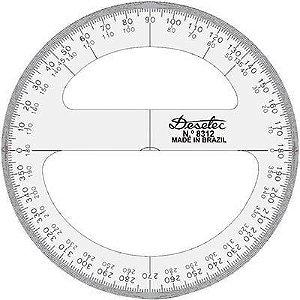 Transferidor 15cm 360° - unitário - Trident