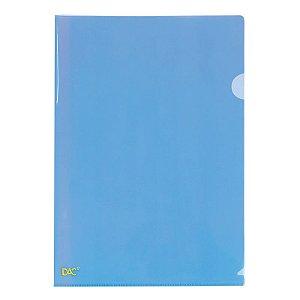 Pasta L A4 Azul - unitário - DAC