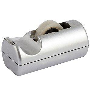 Dispensador de Fitas Pequeno Metalizado Prata Fosco - unitário - Waleu