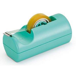 Dispensador de Fitas Pequeno Azul Turquesa - unitário - Waleu