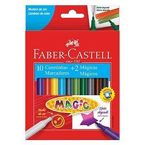 12 Canetinhas Hidrográfica Magic - unitário - Faber-Castell