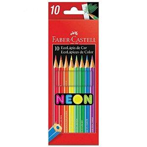 10 Lápis de Cor Neon EcoLápis - unitário - Faber-Castell