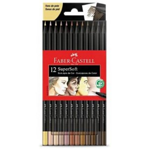 12 Lápis de Cor Tons de Pele - SuperSoft EcoLápis - unitário - Faber-Castell