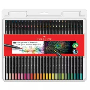 50 Lápis de cor EcoLápis SuperSoft - unitário - Faber-Castell