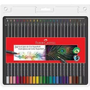 24 Lápis de Cor EcoLápis SuperSoft - unitário - Faber-Castell