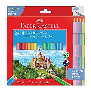 24 Lápis de Cor + 4 Tons Pastéis EcoLápis - unitário - Faber-Castell