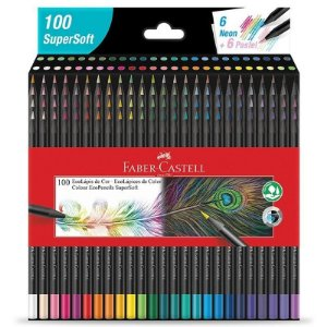 100 Lápis de cor EcoLápis SuperSoft - unitário - Faber-Castell