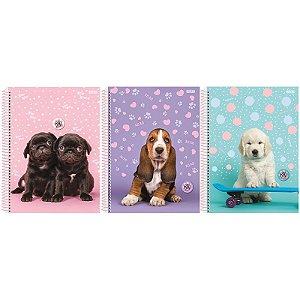 Caderno My Pets 1/4 80 Folhas - unitário - São Domingos