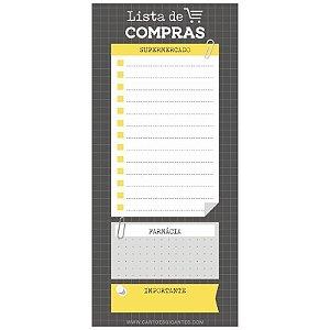 """Note Pad Magnético """"Lista de Compra"""" - unitário - Cartões Gigantes"""