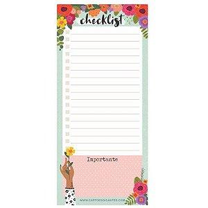 """Note Pad Magnético """"Checklist"""" - unitário - Cartões Gigantes"""