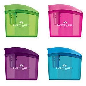 Apontador com Depósito Clickbox - unitário - Faber-Castell