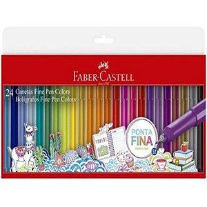 Caneta Fine Pen Colors 0,4 mm - com 24 cores - Faber-Castell
