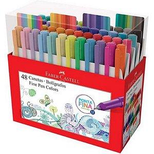 Caneta Fine Pen Colors 0,4 mm - com 48 cores - Faber-Castell