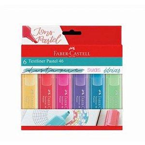 Marca texto Textliner Pastel 46 - com 6 unidades - Faber-Castell