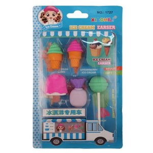 Borracha Ice Cream - com 5 unidades - Importados