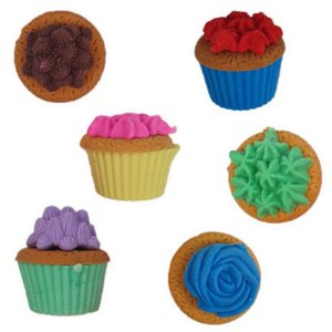 Borracha Cupcake - com 6 unidades - Importados
