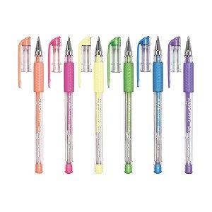 Canetas Gel Pastel Trend - com 6 unidades - Leonora