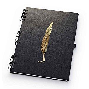 Caderno Noir Ultra Pautado - unitário - Ótima Gráfica
