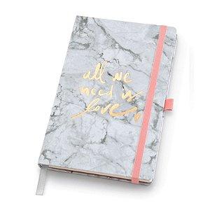 Caderno Pink Stone Papertalk Maxi Pautado - unitário - Ótima Gráfica