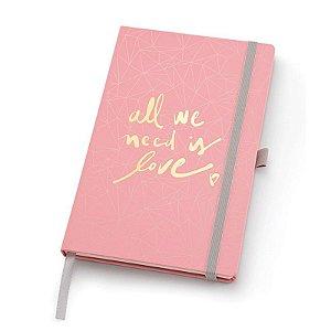 Caderno Pink Stone Papertalk Maxi Pontilhado - unitário - Ótima Gráfica
