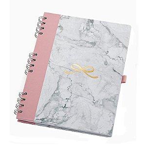 Caderno Pink Stone Ultra Mármore - unitário - Ótima Gráfica