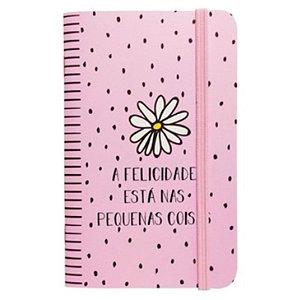 """Caderneta """"A Felicidade está nas pequenas coisas"""" - unitário - Fricote"""