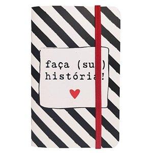 """Caderneta """"Faça (sua) história!"""" - unitário - Fricote"""