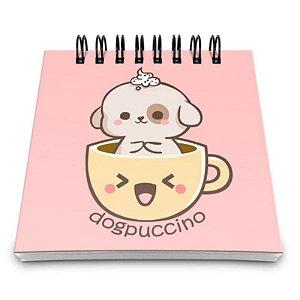 """Bloco de Notas """"Dogpuccino"""" - unitário - Yaay!"""