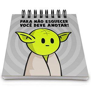 "Bloco de Notas ""Mestre Yoda"" - unitário - Yaay!"