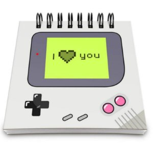 """Bloco de Notas Game boy """"I love you"""" - unitário - Yaay!"""