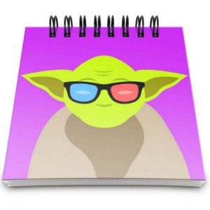 "Bloco de Notas ""Geek Yoda"" - unitário - Yaay!"