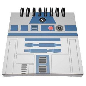 """Bloco de Notas """"Star Wars R2-D2"""" - unitário - Yaay!"""